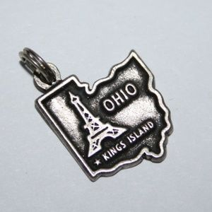 Vintage sterling silver Ohio King Island Charm